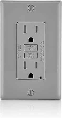 15A Tamper Resistant TR GFCI Outlet Receptacle 15 Amp GRAY Child proof 5 pc