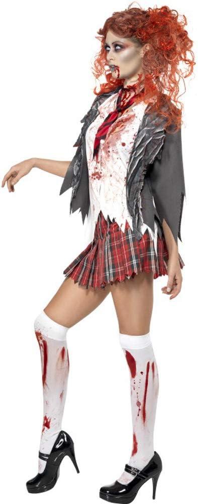Smiffys Alto Escuela Horror Zombie Niña Escuela Mujer Disfraz de ...