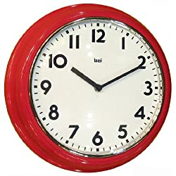 Bai School Wall Clock, Red
