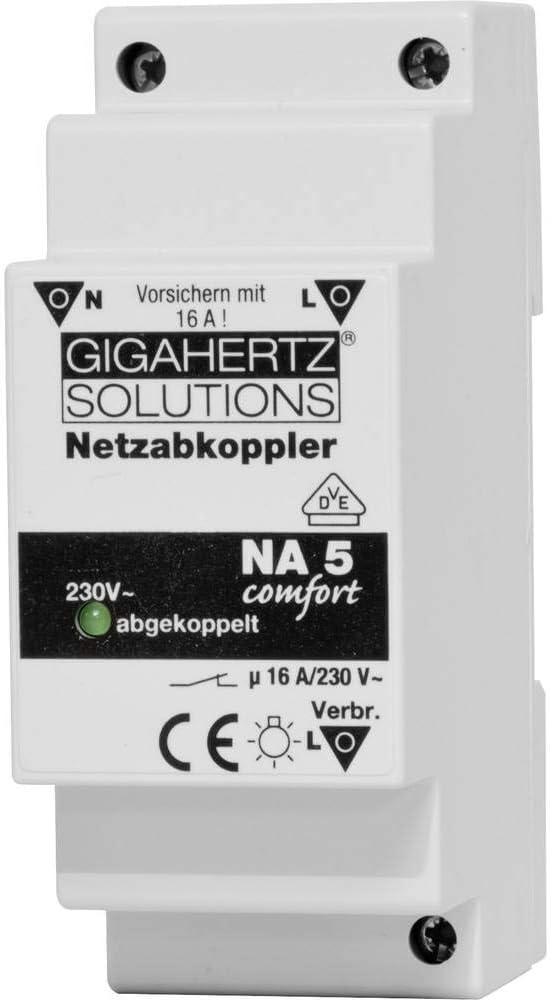 max. Gigahertz Solutions Netzabkoppler 1 St : 230 V//AC 16 A 2300 W Restwelligkeit: 8 mV NA5 Schaltspannung