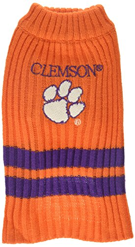 Clemson Tiger Cheerleader Costume (Pets First Collegiate Clemson Tigers Pet Sweater, X-Small)