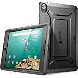 Nexus 9 Case, SUPCASE Google Nexus 9 Case Heavy Duty Full-body Protection [Unicorn Beetle PRO] Case Cover with Built-in Screen Protector for HTC Nexus 9 (2014 Release), Black/Black