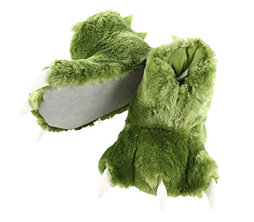 Dinosaur Paw Animal Paw Slippers for Kids and Adults by LazyOne | Fun Fuzzy Costume Footwear (Small)