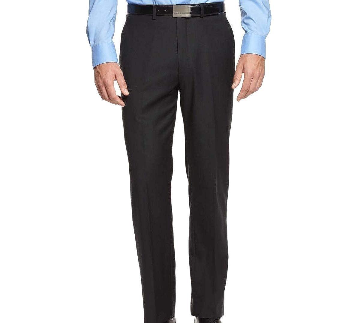 Ryan Seacrest 32X34 Modern Fit Dress Flat Front Wool Pants Blues