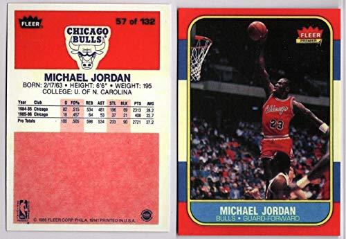 8b2c37a760f Michael Jordan Chicago Bulls 1986-87 Fleer Rookie RC Pair REPRINT  57    8  at Amazon s Sports Collectibles Store