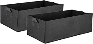 TOPBATHY 2Pcs Fabric Raised Garden Bed Garden Grow Bags Gallon Rectangle Planting Bag Planter Pot with Handles for Plants Flowers Vegetables