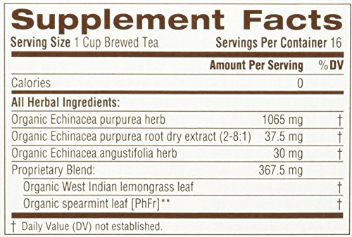 032917000514 - Traditional Medicinals Organic Echnicea Plus, Wrapped Tea Bags, 0.85 Ounce carousel main 1