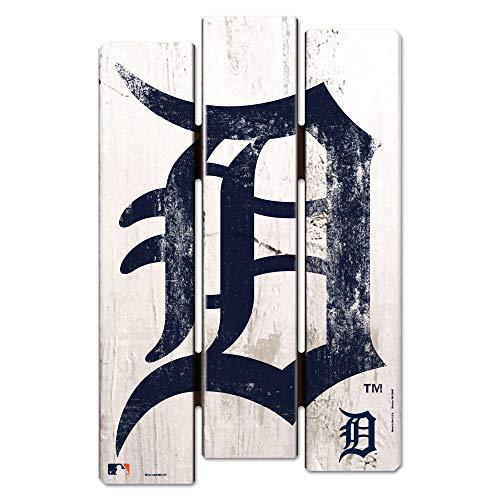 WinCraft MLB Detroit Tigers Wood Fence Sign, Black
