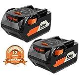 2Pack 18v 6.0Ah Lithium Ion Replacement Battery for RIDGID R840083 R840087 AC840085 R840086 R840084 RIDGID 18V Battery