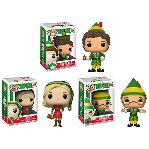 Funko Movies: POP! Elf Collectors Set: Jovie, Buddy, Papa Elf Action -