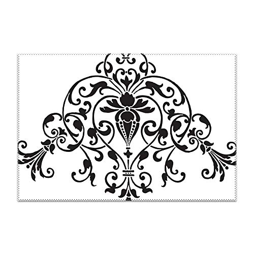 Michael Trollpoe Stencil Ornament Placemat Heat-Resistant Washable Place Mats for Kitchen Dining Table Decoration -