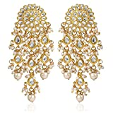 Karatcart GoldPlated Fashion Chandbali Hook Dangler Stylish Fancy Party Wear Earrings For Women
