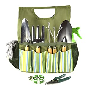 Plant Theatre Essential Garden Tool Bag – Includes Tools for the Gardener