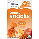 Plum Organics Teensy Fruits, Organic Toddler Snack, Peach, 1.75 Ounce, 5 Count