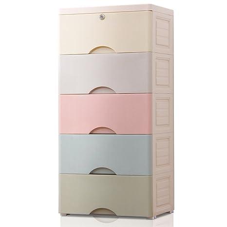 Amazon.com: YONGHUN Large Drawer Lockers Plastic Storage ...