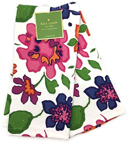 Kate Spade New York festive Floral 2pk towels multi