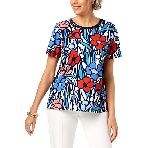 Alfred Dunner Women's Petite Stain Glass tee Shirt, Multi, PS ()