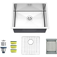 MENSARJOR 22'' x 18'' Single Bowl Kitchen Sink