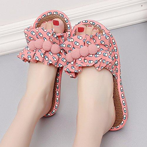 al elegante pavimento sweet pantofole 39 rosa di estate pantofole Cool home spessore sweet antiscivolo soggiorno home donna coperto fankou xRqYwSIR