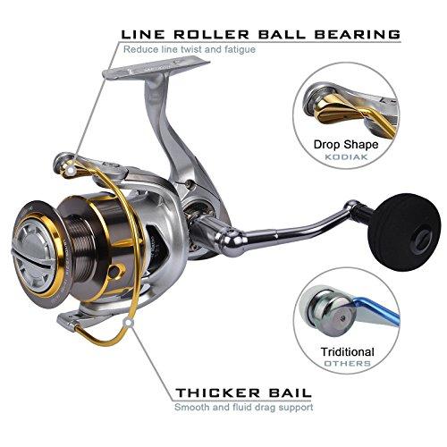 Kastking kodiak saltwater spinning reel 39 5 lb carbon for Reel steel fishing