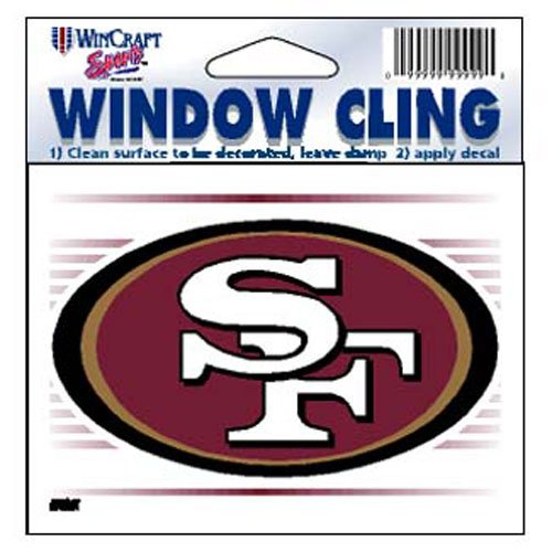 - WinCraft San Francisco 49ers NFL 8x8 cm Static Cling Auto Decal