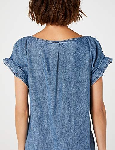 Wash 902 blue Donna Medium Edc Esprit Vestito By Blu qRU86z0w