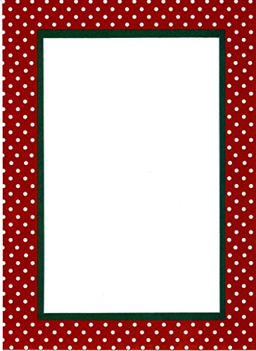Christmas Dots - 4x6 Photo Insert Note Cards - 24 Pack by Plymouth (Dot Border Photo Cards)