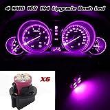 odometer toyota corolla - Partsam 6 Pack PC161 Twist Lock Gauge Instrument Panel Lights T10 LED Bulbs Pink Purple