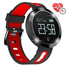 Arvin Cardio Watch Calorie Counters Activity Fitness Tracker Fitness Watch Waterproof Pedometer Sleep Steps Distance Calorie Tracker Heart Rate BP Monitor Wrist Watch for iPhone IOS Android