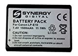 Canon EOS Rebel T6  Digital Camera Battery Lithium Ion (1500 mAh 7.4v) - Replacement for Canon LP-E10 Battery