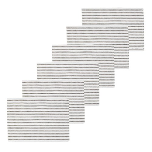 C&F Home Ticking Stripe Clay Placemat Set of 6 Rectangular Placemat Set of 6 Clay