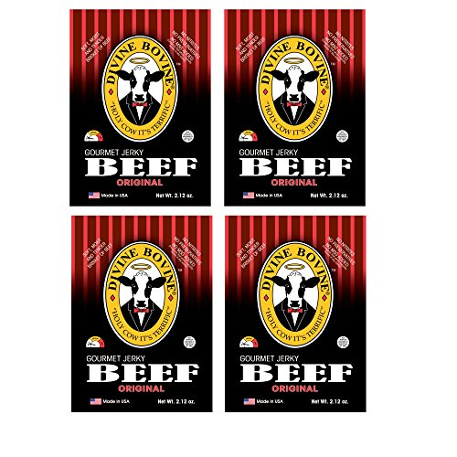 Beef Jerky - Gourmet Jerky Variety Pack | 4 Packs - Original | Premium Gluten Free Flavors | A Low Carb High Protein Option | Makes a Great Snack for Kids