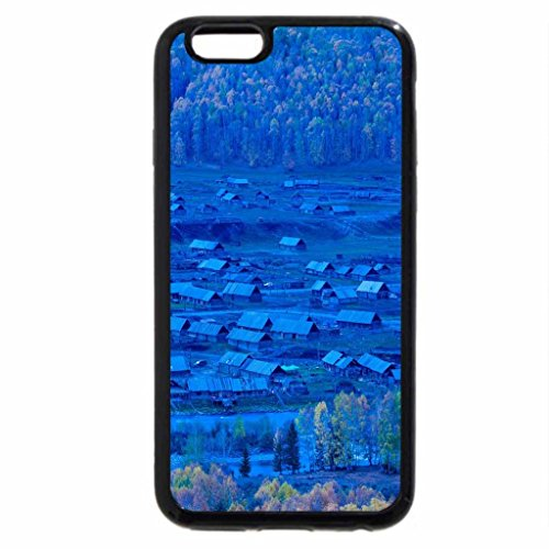 iPhone 6S / iPhone 6 Case (Black) rural village in blue light