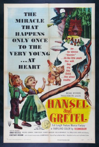 Hansel And Gretel * CineMasterpieces Grimm Fairy Tale Original Movie Poster 1954
