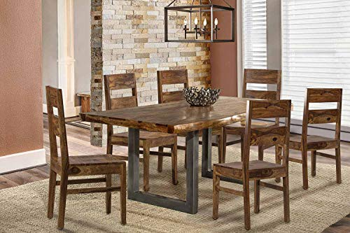 Hillsdale Emerson 7 Piece Dining Set in Natural -