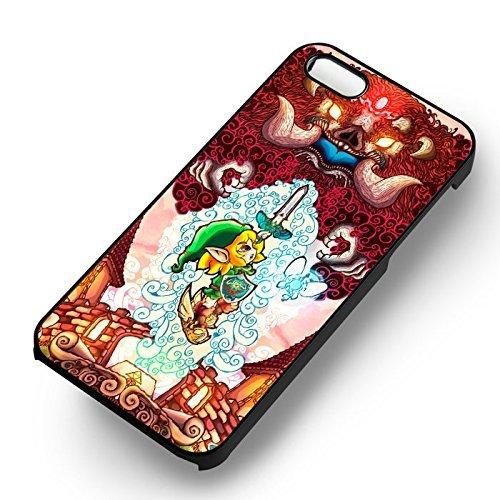 Zelda attacking the monster pour Coque Iphone 6 et Coque Iphone 6s Case (Noir Boîtier en plastique dur) E8I1FP