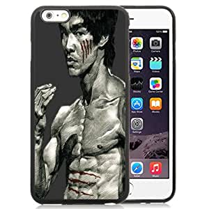 NEW Unique Custom Designed iPhone 6 Plus 5.5 Inch Phone Case With Bruce Lee Drawing_Black Phone Case