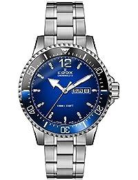 Men's Chronorally-S 44mm Steel Bracelet & Case Swiss Quartz Blue Dial Analog Watch 84300 3NBUM BUBN