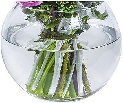 Transparent Floral Bouquets /& Pi/èces Centre 7.5cm X 10cm Pack of 2 pour Flowers INERRA Petit Poisson Verre Bol Rond Vase