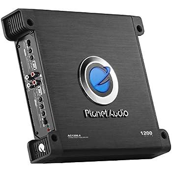 Planet Audio AC1200.4 Anarchy 1200 Watt, 4 Channel, 2/8 Ohm Stable Class A/B, Full Range, Bridgeable, MOSFET Car Amplifier