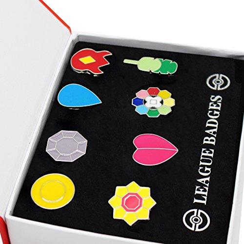 Pokemon Gym Badges set of 8PCS (Red) from Pokemon