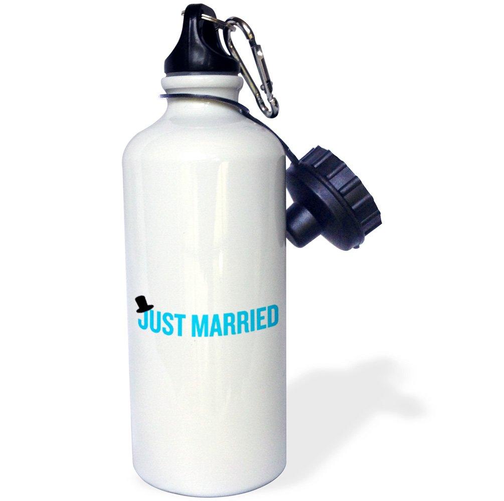 ローズWB _ 194337 _ 1 Just Marriedトップハットブルースポーツウォーターボトル、21オンス、ホワイト   B00NVXY6CG
