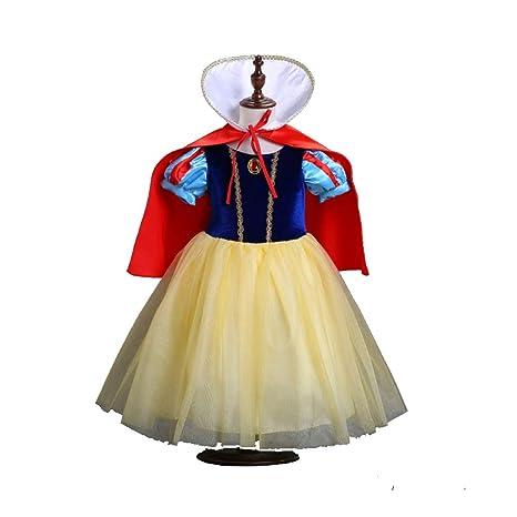 WSJYP Falda Blanca como La Nieve Niñas Vestido De Océano Tutú para ...