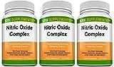 3 Bottles Nitric Oxide Complex 3500mg Per Serving L-Arginine HCL AAKG AKG Alpha Ketoglutarate Citrulline Malate 360 Total Tablets KRK Supplements