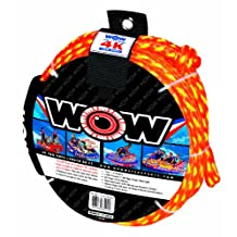 WOW World of Watersports, 11-3010, Tow Rope up to 4 Riders, 60 Feet, 4100 Pounds Break Strength, Floating Foam Buoys