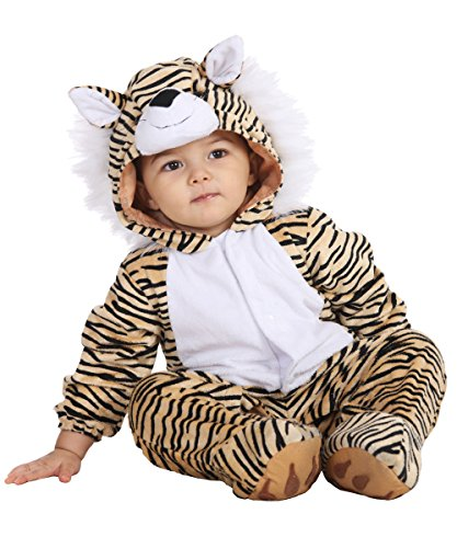 Kigurumi Mask Costume (Toddler Halloween Tiger Costume for Baby Boys and Girls - 24 to 36 Months - Perfect Cosplay & Theme party Dress Up Outfit Gift (L, 24-36Month))