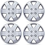 hyundai elantra hubcaps 2003 - BDK 15 Inch Hubcaps Wheel Protection - 4 Lug Nuts, OEM Replacement, Easy Installation, Total 4 Pieces (2 front 2 rear)