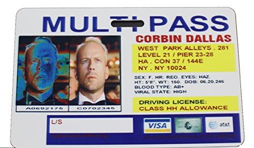 Fifth Element Corbin Dallas Multipass Badge (Leeloo 5th Element)