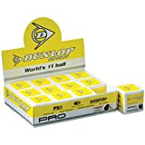 Dunlop Pro - Double Yellow Dot (One dozen) Squash Balls