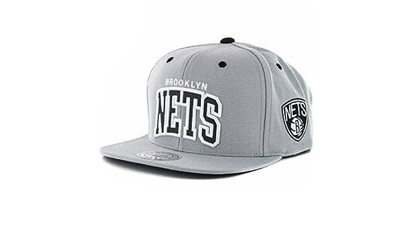 d214c87eef1a4c Amazon.com : Mitchell & Ness Men's NBA Brooklyn Nets Reflective Arch Snapback  Hat : Clothing